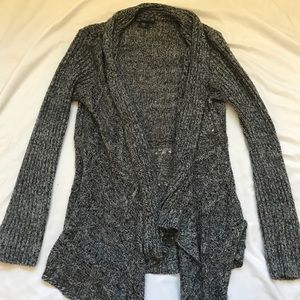 Comfortable Knitted Grey Cardigan Pullover